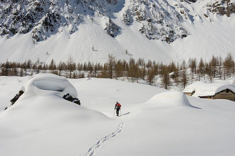 Con racchette da neve a Prato Ciorliero
