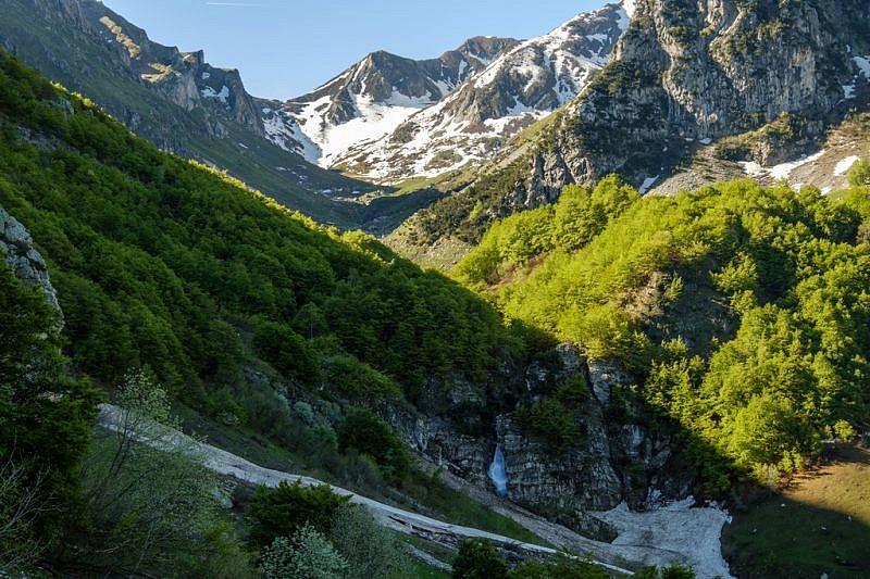 La bella cascata nel vallone