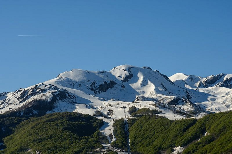 Le piste da sci del Sole e il monte Pepin