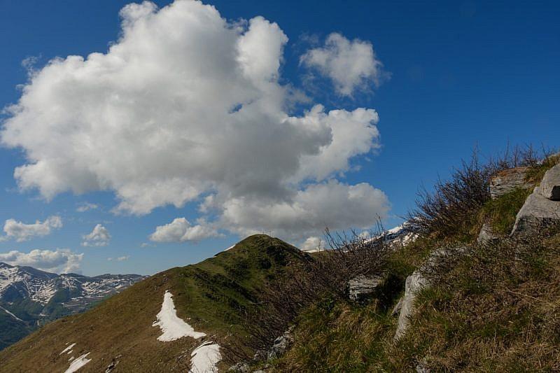 Verso la punta arrotondata del monte Vecchio