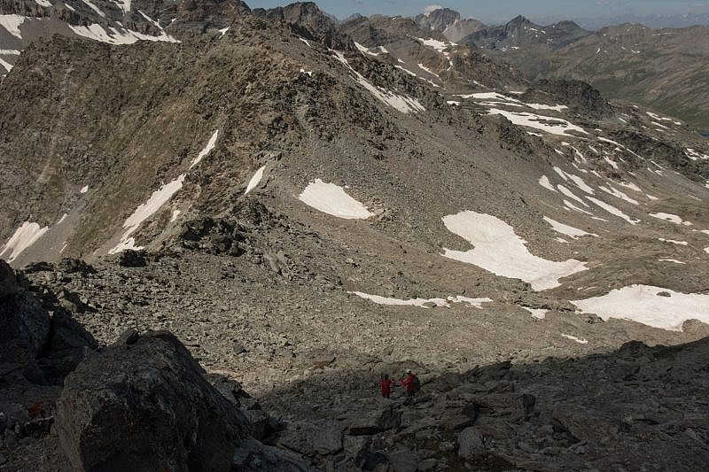 Scendendo dalla cima Pienasea