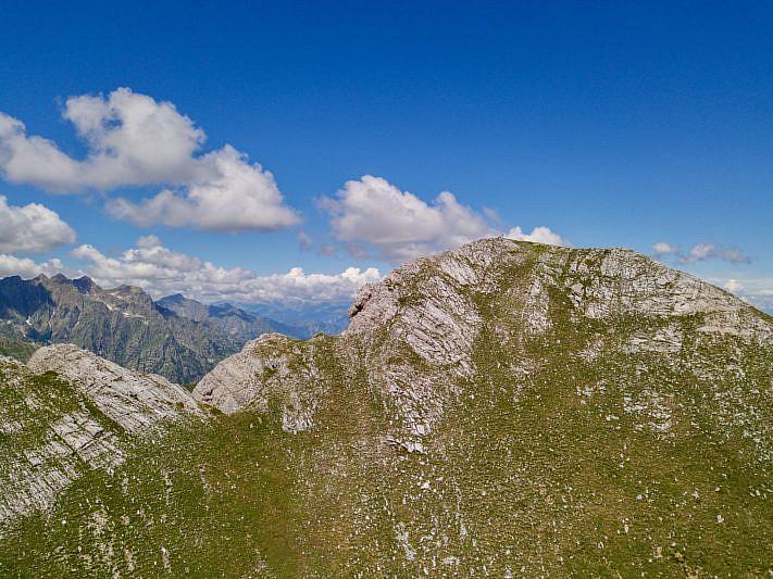 Il monte Chiamossero ovest (la nostra meta)