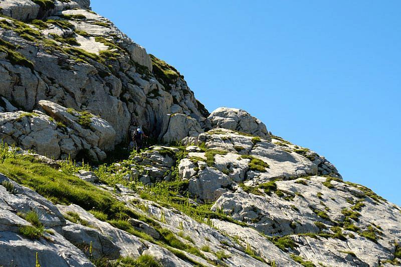 Tratto roccioso sotto la cima di Scarason