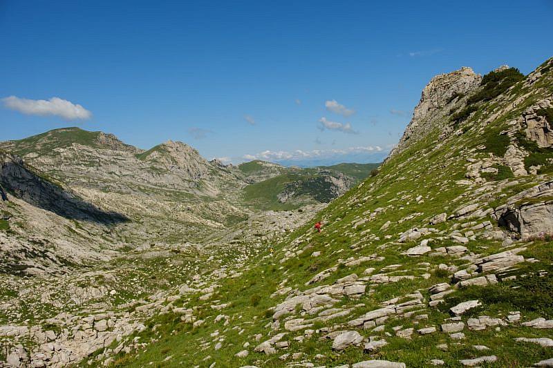 Passaggio sotto la cima di Piero