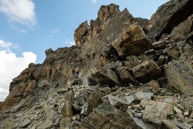 La base di partenza della parte alpinistica