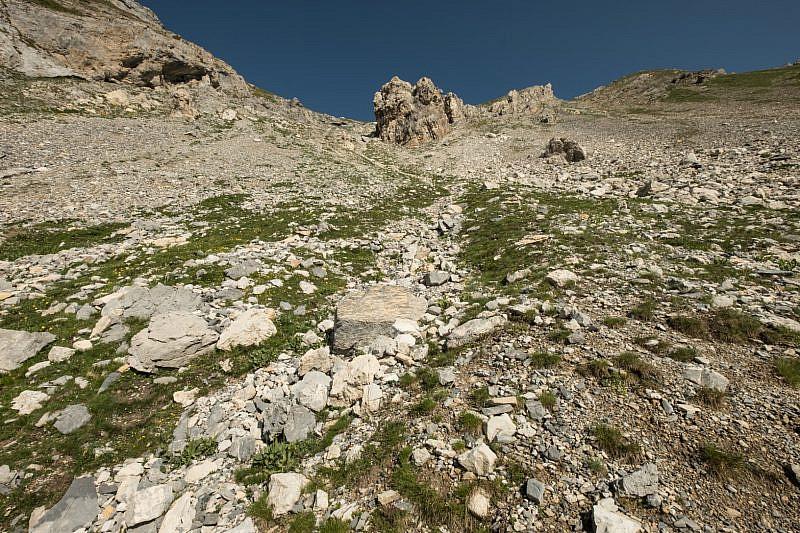 Il blocco roccioso da passare alla sinistra