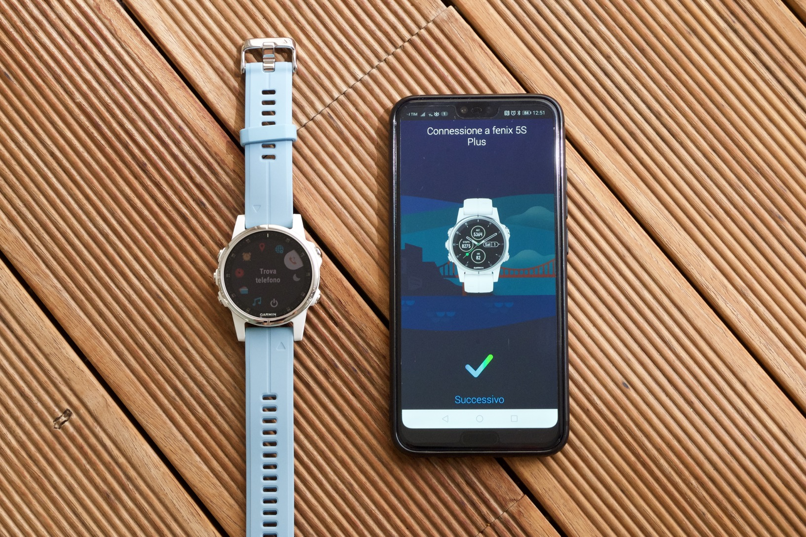 Garmin fēnix 5S Plus e Honor 10 sono stati associati correttamente