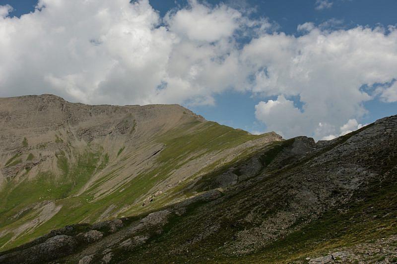 Punta Tre Chiosis a destra
