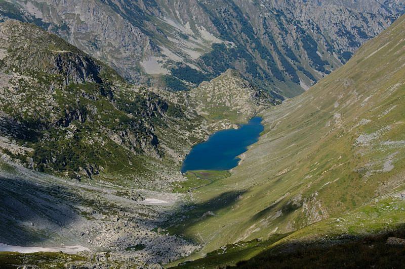 Dal colle del Vej del Bouc veduta sull'omonimo lago