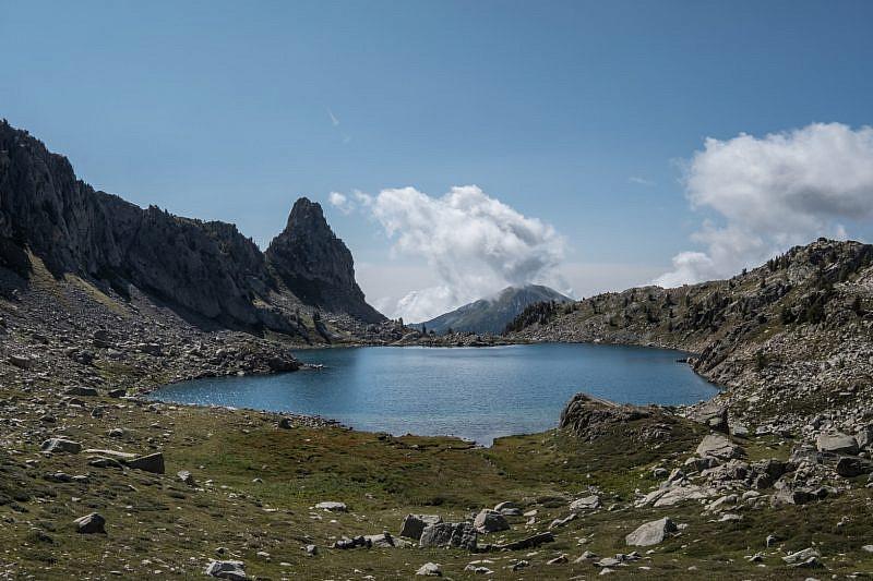 Lac Nègre visto salendo al passo di Prefouns