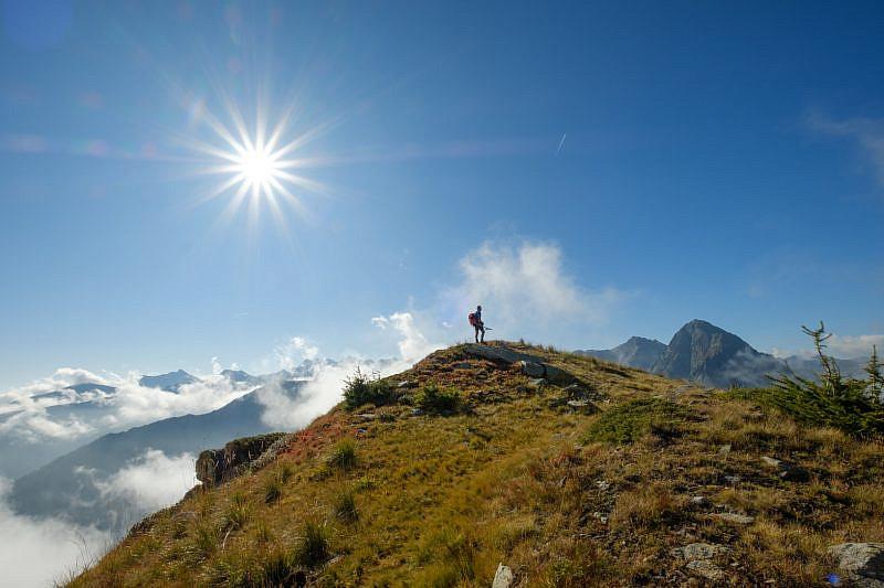 Sulla cresta poco prima della cima Ciastella