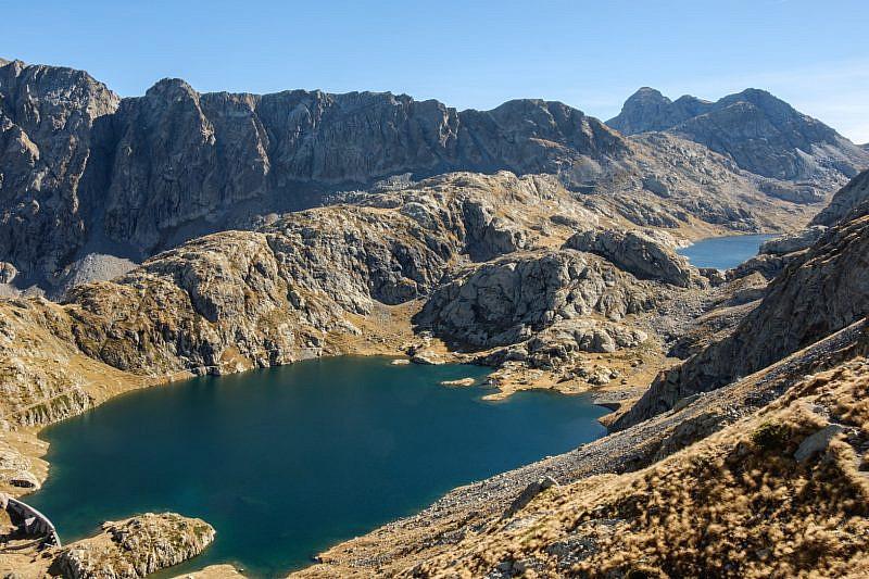 Parziale veduta sui lac Noir e lac du Basto