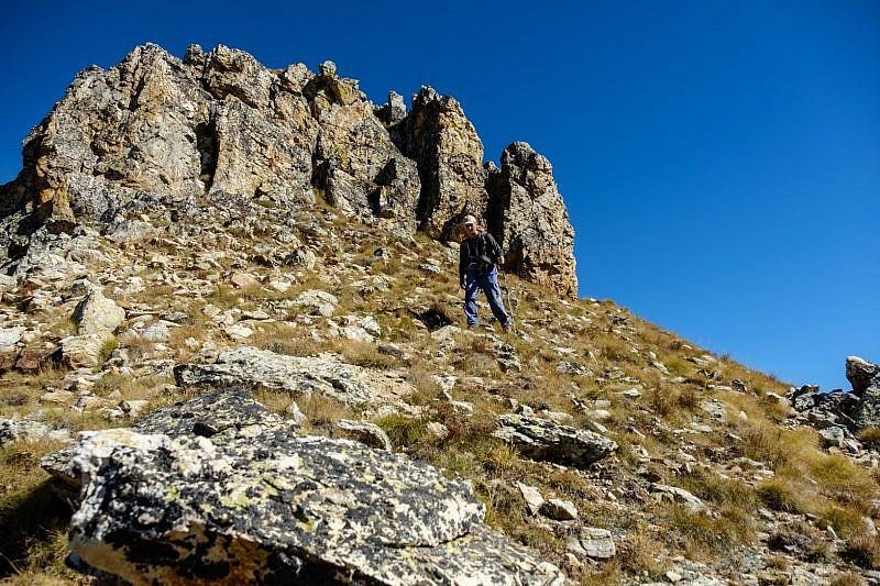 Aggirando un tratto roccioso