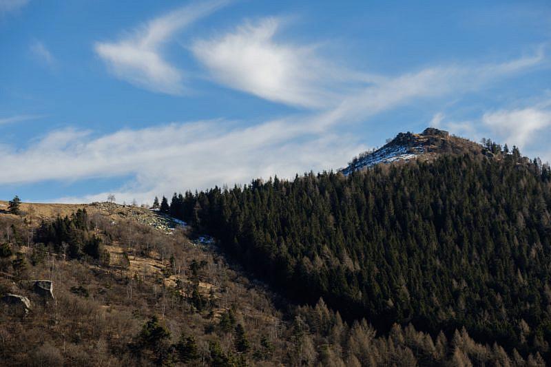 Sguardo al monte Roccerè