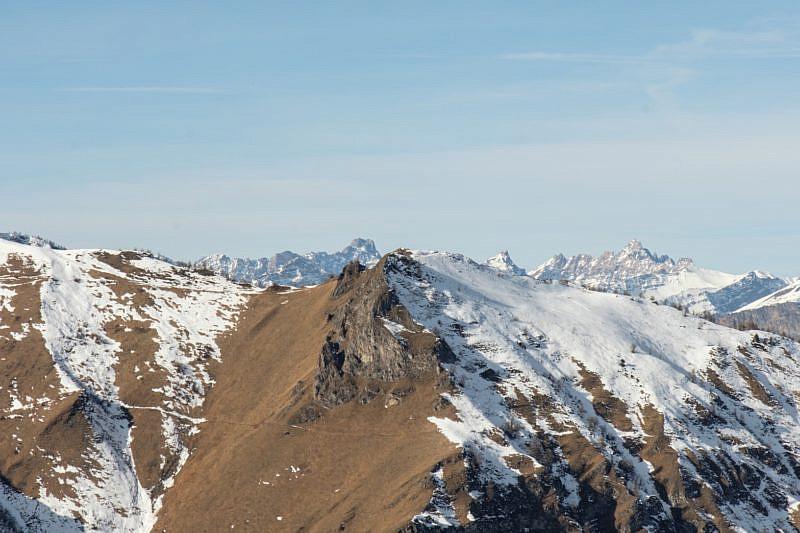 Veduta sulle vette finali della valle Maira