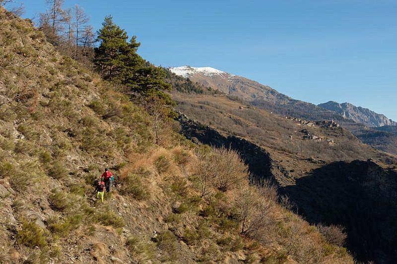 La borgata di San Martino visibile a destra
