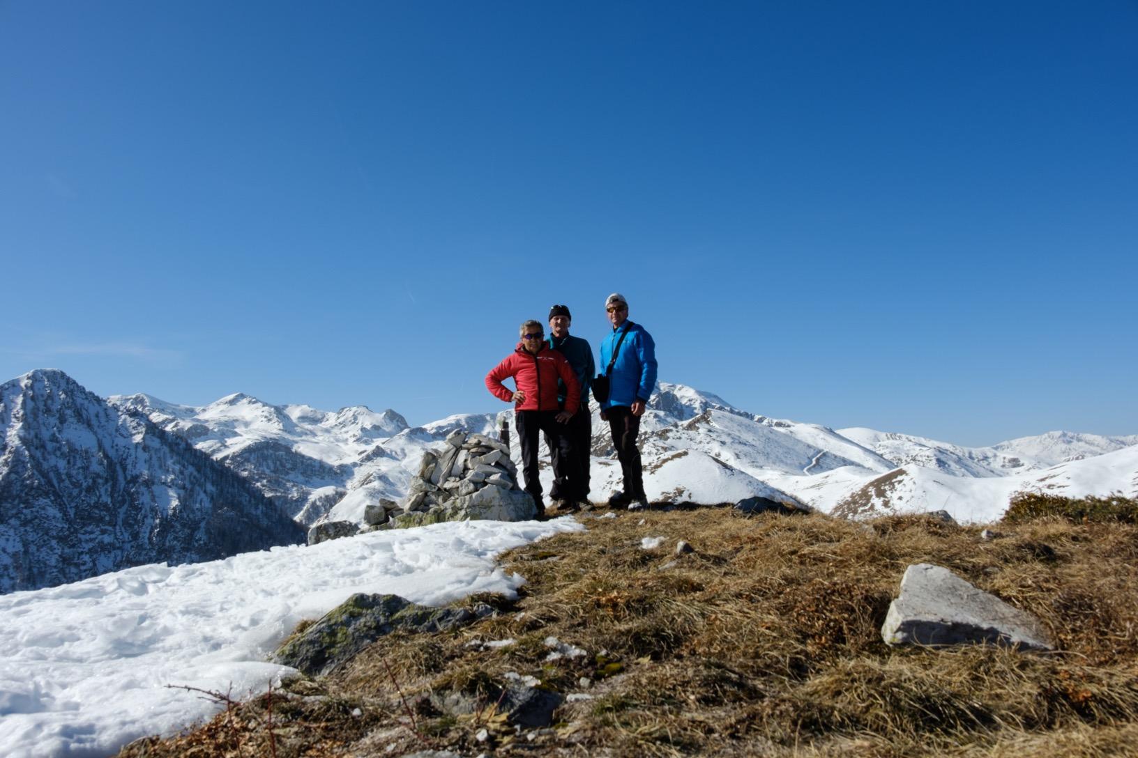 Foto di gruppo sulla cima