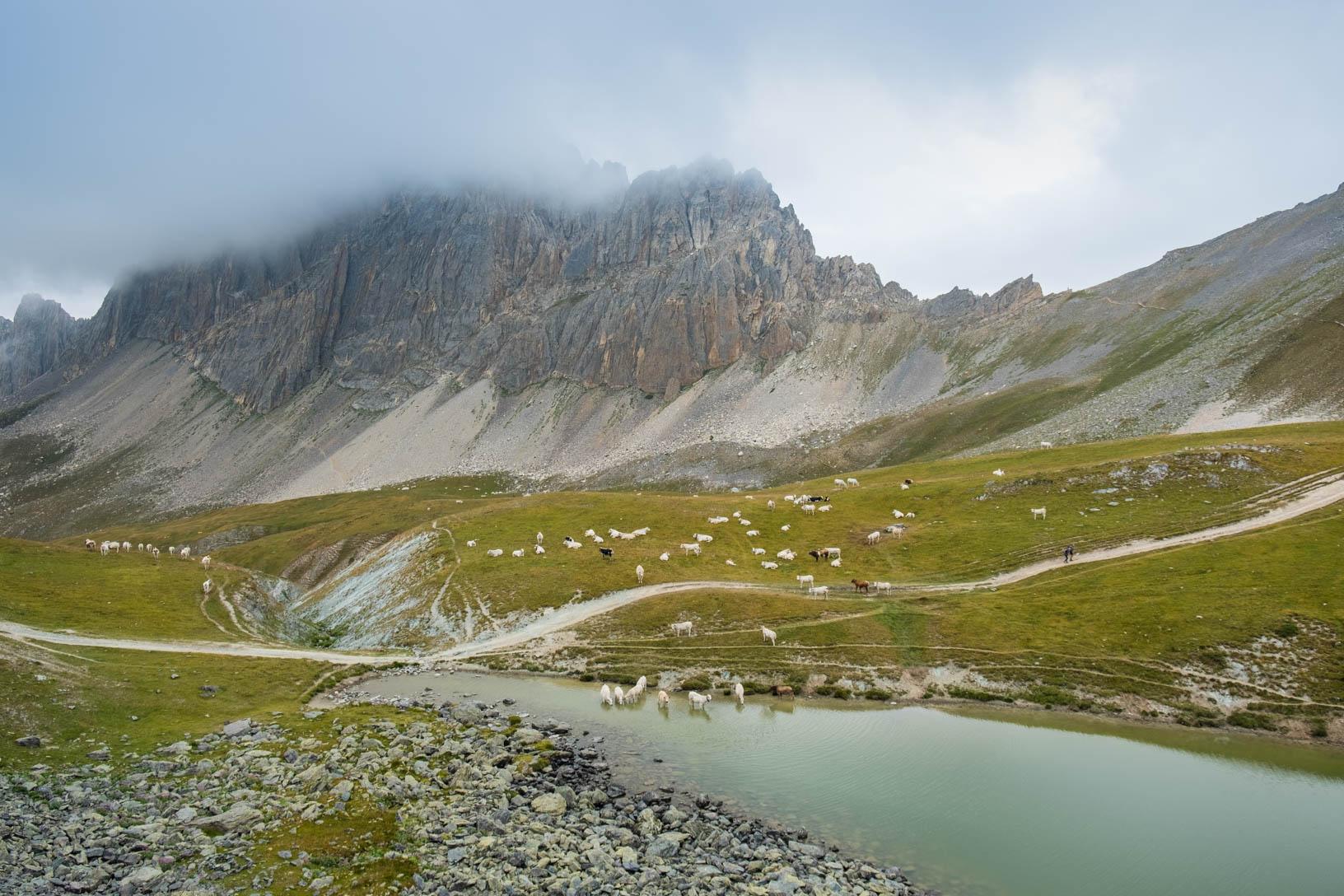 La bellissima Rocca la Meja vista salendo sul Sentiero Rosella